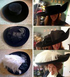 Festive Attyre: Merry Widow hat and Gibson Girl hair
