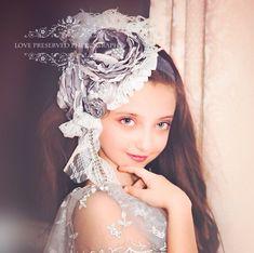 Platinum Rose sobre la venda superior diadema por ChloeRoseCouture