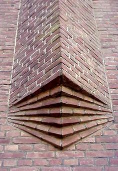 this displays modularity because its an architecture that continues to use the same material and shape to create its design Brick Architecture, Organic Architecture, Architecture Details, Amazing Architecture, Brick Cladding, Brick Facade, Brick Art, Brick Tiles, Brick In The Wall