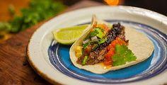 Texan Style Beef Short Rib Tacos with Avocado Corn Salsa | Adrian Richardson