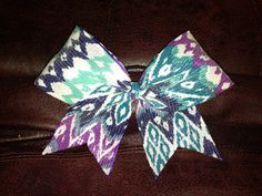 Aztec Sequence Cheer Bow by BowsByEm on Etsy, $15.00