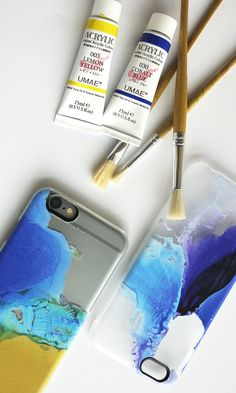 painted iphone case.