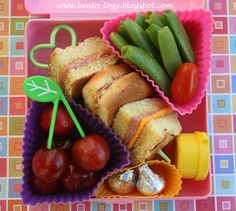 Sandwich on a Stick Bento Lunch ....this would be a perfect lunch for meee!!!!