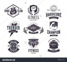 Retro Gym | Logo Templates | Retro gym and Gym