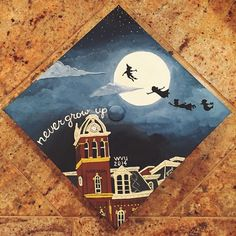 This mortarboard from WVU's December Commencement is beautiful enough to frame. Instagram photo by @caitwil10