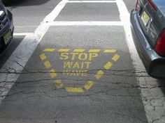 I just LOVE the crosswalks in Camden, Maine.  They say Stop, Wait, Wave. Why don't we have these everywhere?