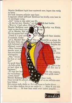 Handmade Clown illustration Original by korneliaillustration, €15.00