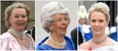 Tiaras at Victoria & Daniel's Wedding: Countess Marianne (wife of the King's late Uncle Sigvard Bernadotte) and Gunilla (wife of the King's Uncle Carl Johan Bernadotte) wore diamond tiaras., Princess Birgitta's daughter Désirée wore a pearl tiara that was one of Birgitta's wedding presents.