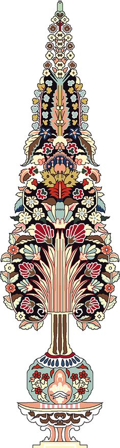 Islamic Motifs, Islamic Art, Baroque Pattern, Pattern Art, Textile Prints, Textile Design, Textiles, Flower Art Images, Paisley Art