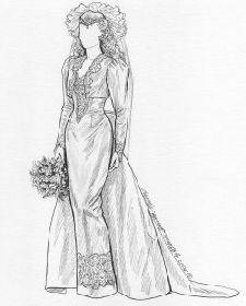 El estilo de novia caracteristico de los 90, vestidos voluminosos, muchas telas y capas, un hito!