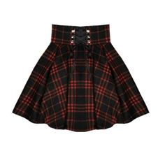 Gothic Lolita Winter High Waist Lace Up Plaid Mini Skirt Black Red Plaid Pleated Ball Gown A-line Pleated Short Skirt Plus Size Lace Mini Skirts, Plaid Mini Skirt, Wool Skirts, Plaid Skirts, Women's Skirts, Lace Up Skirt, Cute Skirts, Pleated Skirt, Denim Skirt
