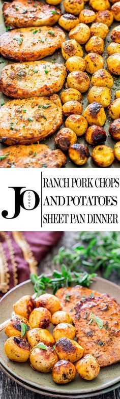 Ranch Pork Chops and Potatoes Sheet Pan Dinner - get out your sheet pan to make…