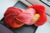Blazing Sunset Hand Dyed Yarn 137 Yards  #RecklessYarns  #thecraftstar  $15.00
