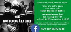 """Quiz """"Mon blocus à la bibli"""" (mai 2015)"""