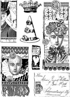 A5 sheet of rubber with each image individually trimmed on EZ mount cling foam Lynn Perrella - PaperArtsy