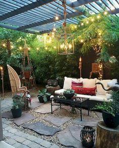 creative outdoor makeover ideas for living room to inspire exterior Outdoor Living Rooms, Outdoor Spaces, Outdoor Decor, Outdoor Retreat, Outdoor Lighting, Outdoor Decking, Outdoor Kitchens, Living Spaces, Backyard Patio Designs