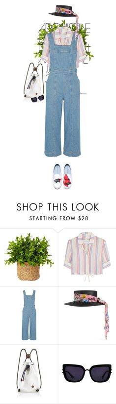 """MARMARIS"" by onemorepose ❤ liked on Polyvore featuring Solid & Striped, Current/Elliott, Gucci, IF Bags and Kendall + Kylie"