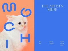Miles Barretto (Miles Barretto) and collaborated to develop a custom version of Adieu Type Face that translates the s… - New Sites Pet Branding, Branding Design, Cat Food Brands, Web Design, Graphic Design, Magazin Design, Pet Day, Design Poster, Book And Magazine