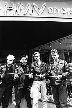 """mydmlife: """"Depeche Mode @ hmv Nottingham Listergate Store Opening April 1986 (by hmv_getcloser) """" 80 Bands, Cool Bands, Beautiful Boys, Pretty Boys, Music Is Life, My Music, Ibiza, Martin Gore, Band Pictures"""