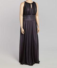 Look at this #zulilyfind! Midnight Embellished Keyhole Dress - Plus by Jessica Howard #zulilyfinds