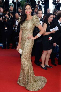 Cleopatra Premiere - Rosario Dawson in Marchesa- its me at a movie premiere! ah, sashay, shantay!