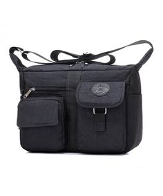 fa4eb6e935 Women s Shoulder Bags Casual Handbag Travel Bag Messenger Cross Body Nylon  Bags - Black - CO11PQ7HE0X
