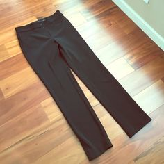 Black pants Worn one time- nice straight leg black pants. 29.5 inseam, 9.5 inch rise. 95% polyester 5% spandex. Purchased at Nordstrom Rack for $40. Pants Straight Leg