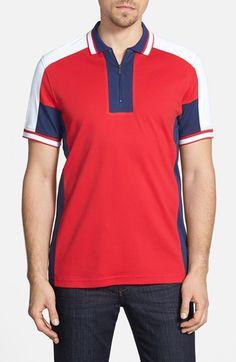 Men's Bugatchi Colorblock Pima Cotton Polo