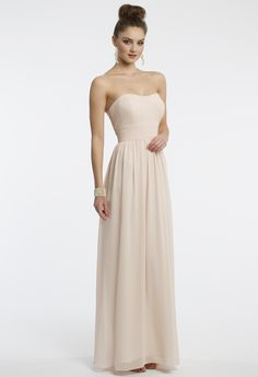 Camille La Vie Pleated Grecian Prom Strapless Dress