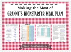 Making the Most of Granny's Free Meal Plan — Granny's Vital Vittles
