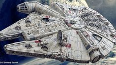 So how did you spend the last four years of your life? No matter how you answer that question, it was a complete waste of time compared to Bernard Szukiel who spent four years creating this absolute masterpiece of a Millennium Falcon model using nothing but paper, glue, and more patience than any single human being has ever had to muster before.