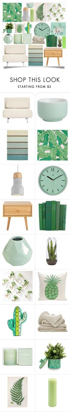 """""""Soothe Me"""" by atarituesday ❤ liked on Polyvore featuring interior, interiors, interior design, home, home decor, interior decorating, Dot & Bo, CB2, Brink & Campman and Chasing Paper"""