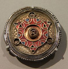 Disc brooch, Anglo-Saxon. Photo by Kotomicreations, via Flickr
