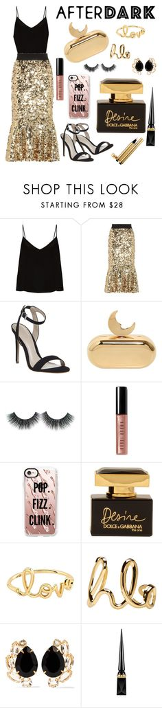 """""""After Dark"""" by jessica-marks ❤ liked on Polyvore featuring Raey, Dolce&Gabbana, Office, Benedetta Bruzziches, Bobbi Brown Cosmetics, Casetify, Sydney Evan, Chloé, Bounkit and Christian Louboutin"""