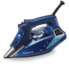 Rowenta Steam Force Professional Electronic Steam Iron with Stainless Steel Soleplate, Blue. For powerful steam and professional-quality results, turn to the Rowenta SteamForce steam iron. Steam Iron Reviews, Best Steam Iron, Rowenta Steam Iron, Ferro A Vapor, Radio Antigua, Linens And More, How To Clean Iron, Steel Water, Steamer