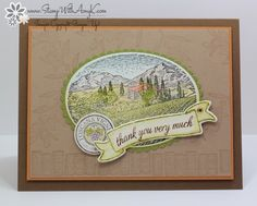 I used the Stampin' Up! Tuscan Vinyard and the host exclusive Basket For You stamp sets to create my card to share today. I had a little fun with some watercoloring! :)