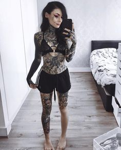 thousand likes, 138 comments – Monami Frost ( … – Tattoo Designs Monami Frost, Hot Tattoo Girls, Tattoed Girls, Inked Girls, Hot Tattoos, Body Art Tattoos, Girl Tattoos, Tatoos, Arabic Tattoos