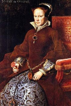 Elizabeth I of England | portrait of Elizabeth's half-sister, Queen Mary I; she ruled England ...