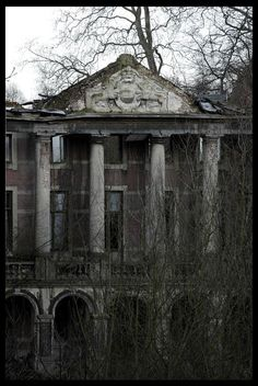 Abandoned castle in Belgium, believe it or not, there is quite a few in Belgium.