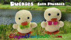 DIY Kawaii Ducky/Chick Sock Plushie/Sock Stuffed Animal/Easter - How to ...