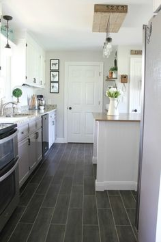 Luxury Vinyl Tile Kitchen Flooring 11