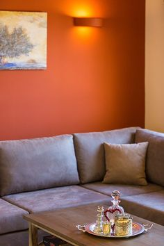 Rethymno villa rental - Living room decoration details!