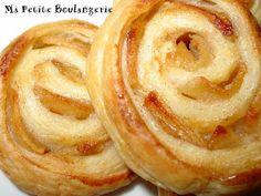 Ma Petite Boulangerie: Espirales de hojaldre con manzana y canela No Egg Desserts, Delicious Desserts, Dessert Recipes, Mexican Food Recipes, Ethnic Recipes, Pan Dulce, Bakery Recipes, Mocca, Flan