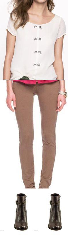 Sparkle bow top, MICHAEL Michael Kors  Garment-Dyed Skinny Pants, FREELANCED