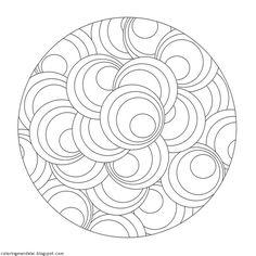 mandala doodle to print and color Mandala Pattern, Zentangle Patterns, Mosaic Patterns, Embroidery Patterns, Zentangles, Circular Pattern, Mandala Coloring Pages, Colouring Pages, Coloring Pages For Kids