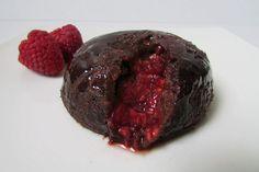 healthy chocolate lava cake
