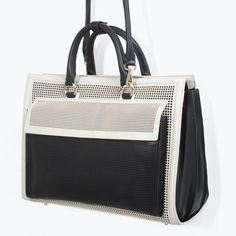 ZARA - SHOES & BAGS - PERFORATED OFFICE CITY BAG