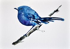 Hey, I found this really awesome Etsy listing at https://www.etsy.com/listing/184510227/original-watercolor-painting-bird-on-a