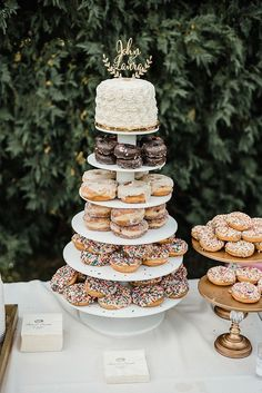 Wedding Cake + Donuts