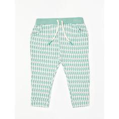 BuyJohn Lewis Baby Organic Cotton Jacquard Trousers, Green, 0-3 months Online at johnlewis.com